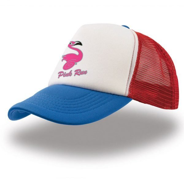 Cappello Trucker PINK RUN - Bianco/Rosso/Royal