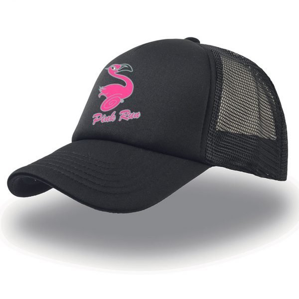 Cappello Trucker PINK RUN - nero